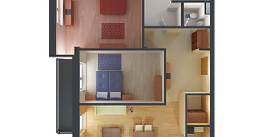 3D Visualization - Apartment ground plan