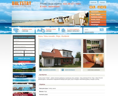 Web Design - BaltStay