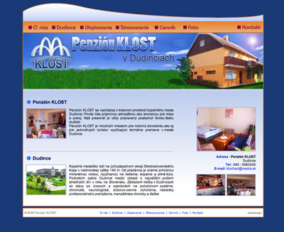 Web Design - Guest house - KLOST