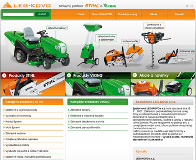 Web Design - Stihl Shop